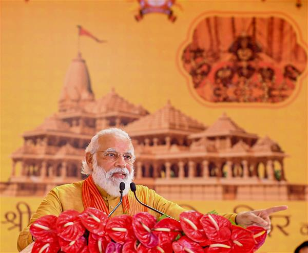 Modi rakes up Ayodhya issue at election rally in Bihar's Darbhanga
