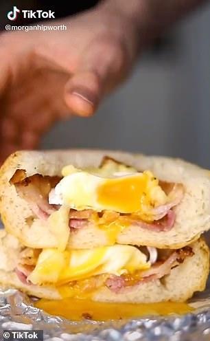 Morgan Hipworth reveals secret bacon and egg roll cooking trick