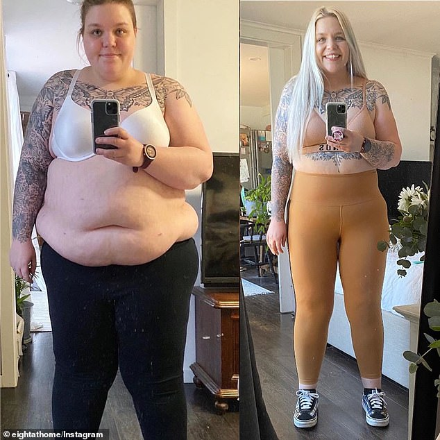 Mother-of-six Krechelle Carter who weighed 140kg drops HALF her body weight in a year