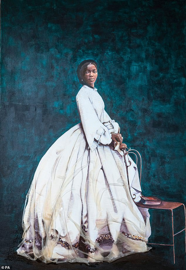 New painting of Sarah Forbes Bonetta goes on display at Queen Victoria's home on the Isle of Wight