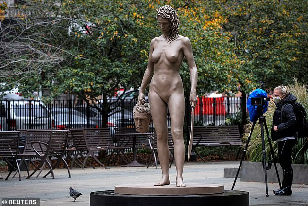 Newly unveiled Medusa statue is criticised by feminists