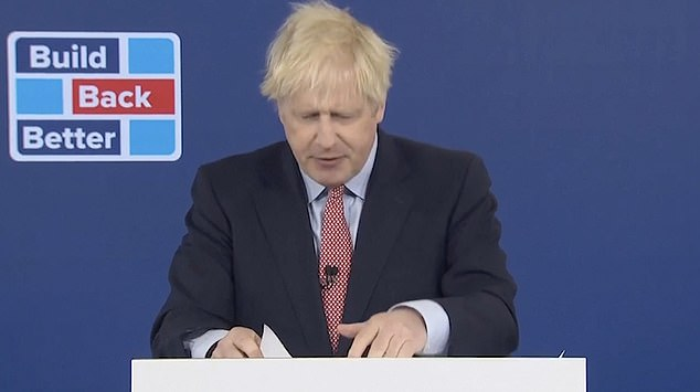 PM ditches auto-cue as he reads his Tory conference speech off a script