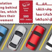 Parking behind vehicles will invite Dh500 fine in the UAE