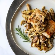 Pork chops, sautéed mushrooms and autumn herbs | The NY Journal