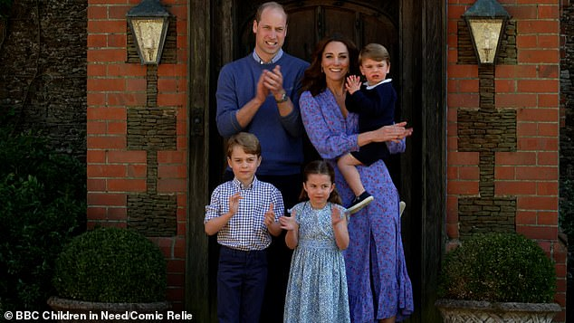 In the latest job posting for Kensington Palace, the royal residence of The Duke and Duchess of Cambridge, the job advert states the potential new employee must 'maintain confidentiality and exercise discretion at all times' (Pictured, The Duke and Duchess with their three children (left to right) George, Charlotte and Louis)