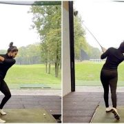 Priyanka Chopra strikes an impressive shot as she plays golf in Berlin while shooting for Matrix 4. Watch video
