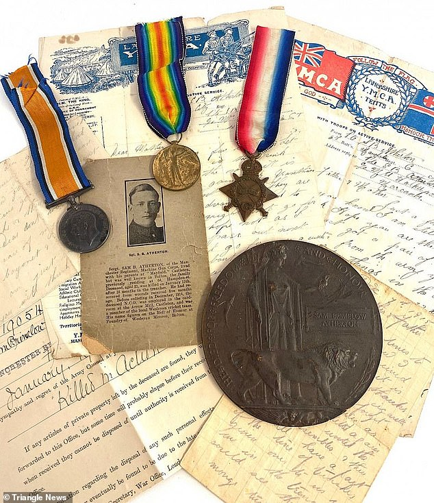 'Heartbreaking' letters written home from the trenches by Sam Atherton, along with a World War One trio of medals are set to be auctioned off next month - unless relatives come forward