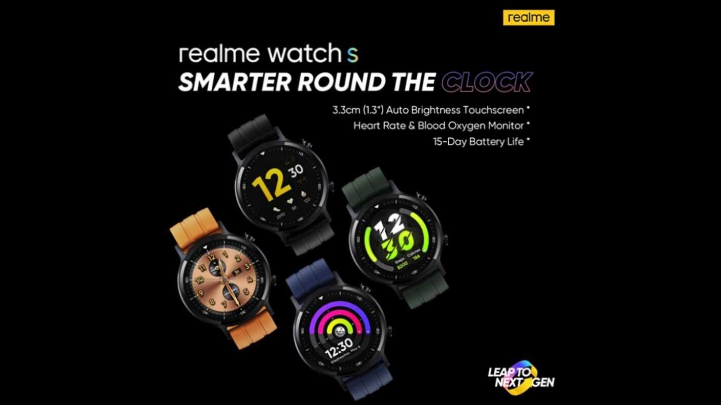 Realme Watch S With Blood Oxygen Monitor to Launch on November 2