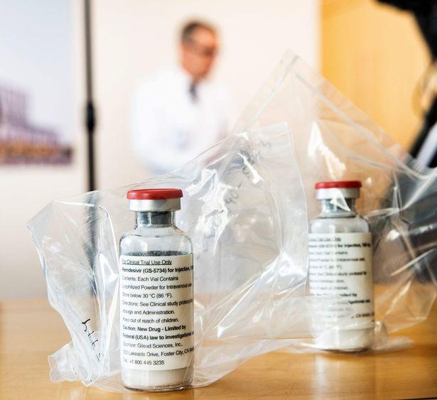 Remdesivir, a drug used to combat the Ebola virus