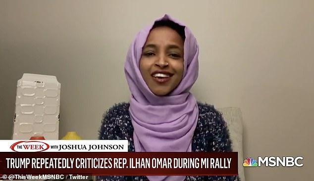 Rep. Ilhan Omar hits back at Donald Trump saying she loves the US 'way more than the president'
