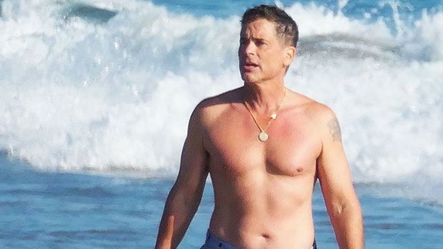 Rob Lowe, 56, Walks Shirtless On The Beach Ahead Of Highly-Anticipated 'West Wing' Reunion — Pic