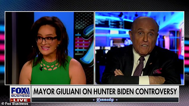 Rudy Giuliani demands an apology from Fox host Kennedy after she compared him to Christopher Steele