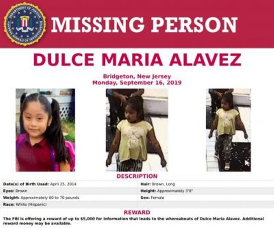 Rumor of death of Dulce María, a girl abducted a year ago in New Jersey, has been ruled out   The NY Journal