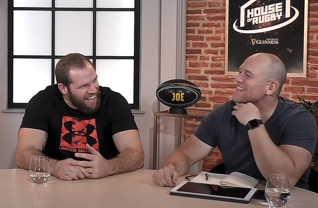 England rugby stars James Haskell (left) and Mike Tindall (right) on House of Rugby podcast