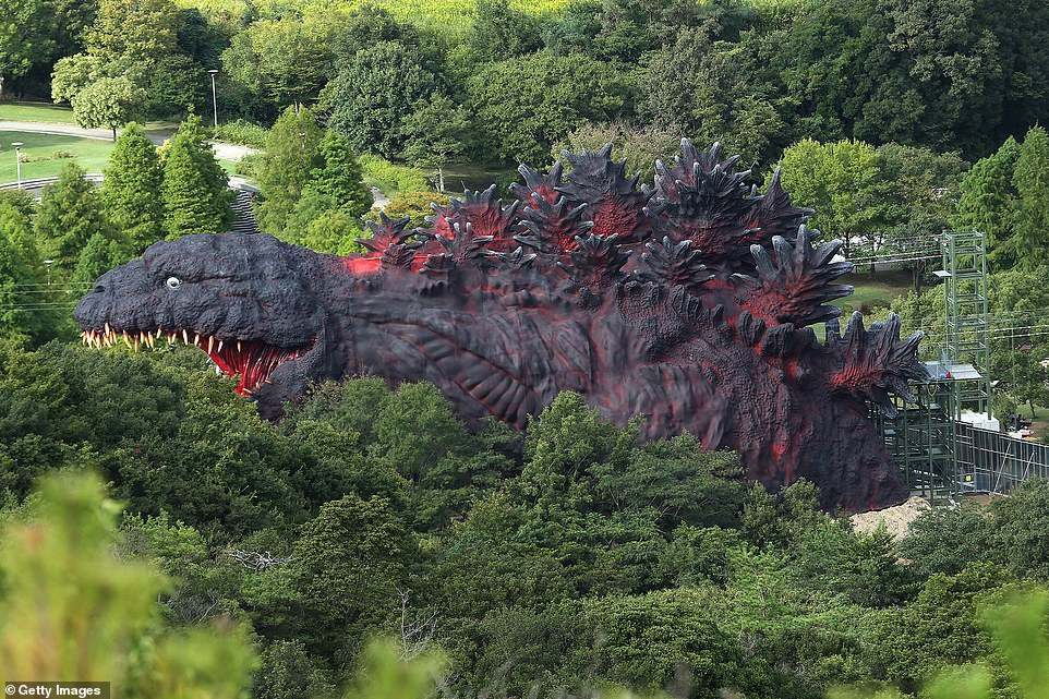 The Japanese theme park where you can zip-line into the mouth of a 'life-size' replica of Godzilla
