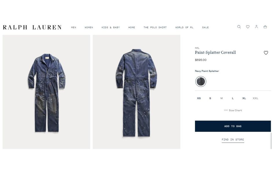 The Paint-Stained Overalls That Ralph Lauren Sells for $ 695 | The NY Journal