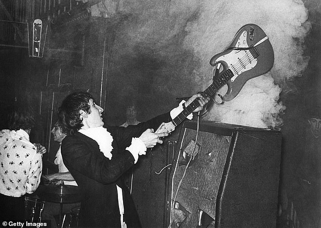 The Who's Pete Townshend smashed his guitars up carefully so they could be repaired