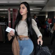 The video of Jailyne Ojeda with fitted nude leggings that highlight her rear   The NY Journal