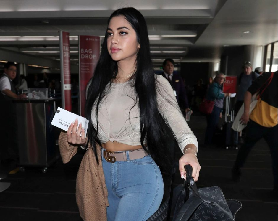 The video of Jailyne Ojeda with fitted nude leggings that highlight her rear | The NY Journal