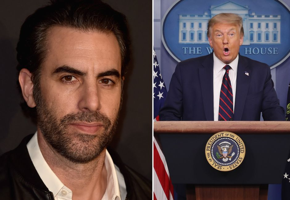 """Trump and Sacha Baron Cohen insult each other and the 'Borat' actor offers the president a """"job"""" 
