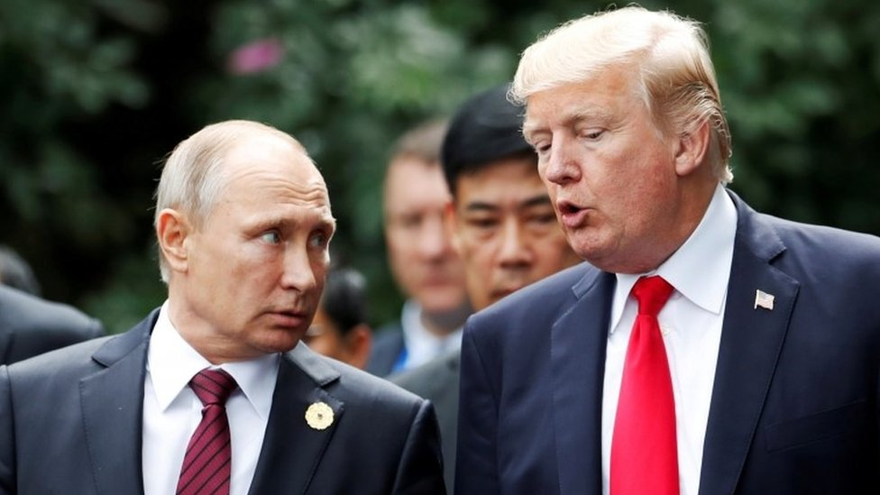 Putin and Trump, photographed in 2017 in Vietnam