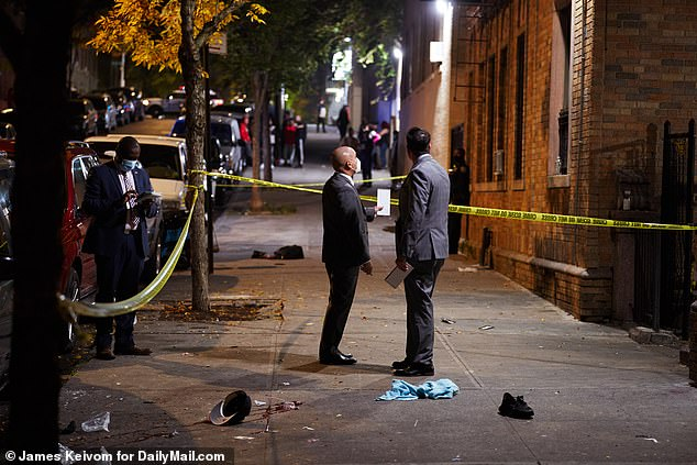 Two people killed and at least six injured in spate of shootings in Brooklyn and the Bronx