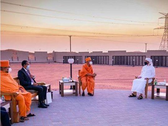 UAE: Sheikh Abdullah bin Zayed inspects upcoming Abu Dhabi temple site