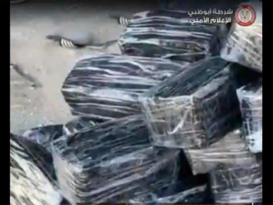 Watch: Abu Dhabi Police arrests trio with 380 kg narcotics