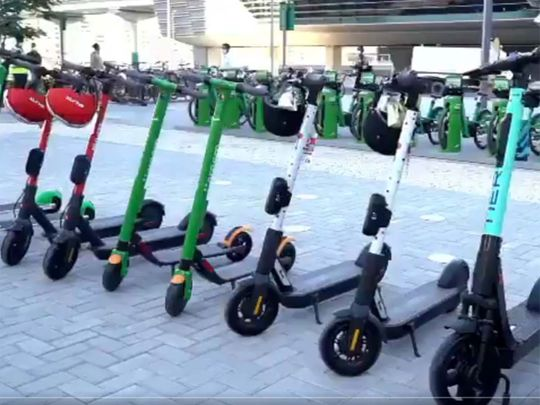 Watch: Dubai prepares for e-scooter roll-out on Monday