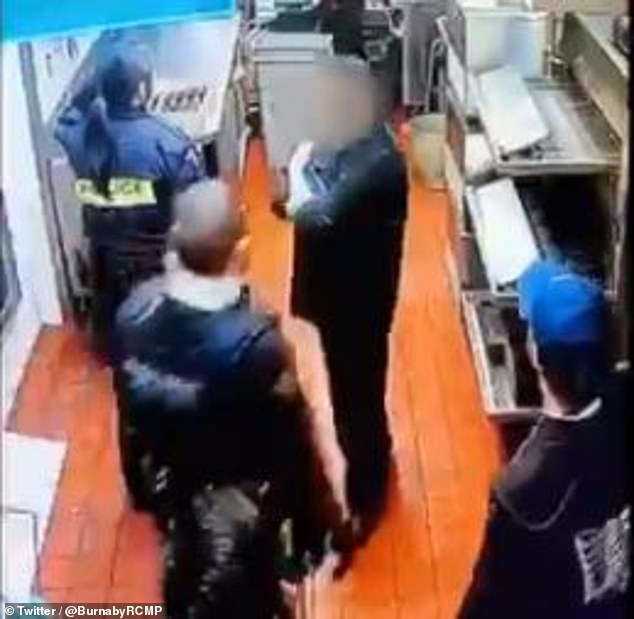 Woman attempting to dine and dash from Canadian restaurant falls through ceiling in front of cops