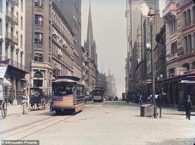 YouTuber uses AI to restore footage from 1896 of a busy Manhattan intersection in glorious color