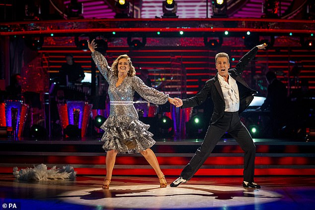 'I don't feel too much shame in losing to these guys because they are a fantastic bunch of dancers': The broadcaster branded her short stint on the series an 'greatest adventure'