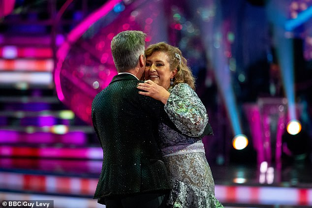 Sad times: The duo shared a goodbye hug as they ended their dance union following a whirlwind appearance
