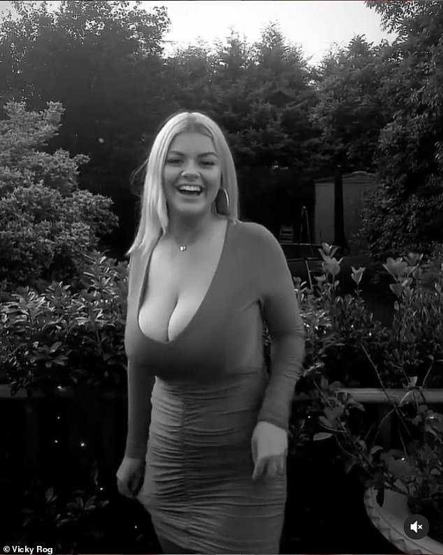 Vicky (pictured) wants to reduce her breasts and has been on the NHS waiting list for three years - but has now set up a GoFundMe page for £5,000 after being told she'll have to wait another six before receiving the operation