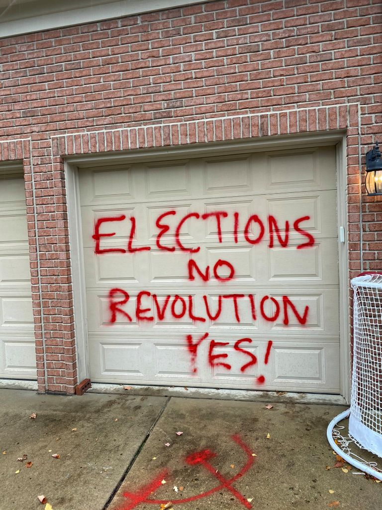Elections tainted by vandalism: damage to politicians' homes and offices in Pennsylvania and Texas | The NY Journal