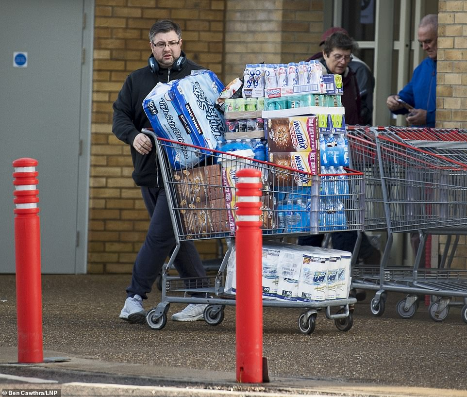 Others used bulk-buy wholesaler Costco to stock up on items, including cereal, milkshake and toilet and kitchen rolls