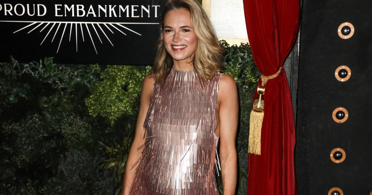 Pregnant Kara Tointon enjoys last night out before lockdown in sparkly dress