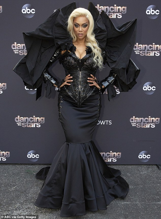 Themed nights: Tyra tends to tailor her wardrobe to match the evening's theme, showing out in a variety of curated outfits