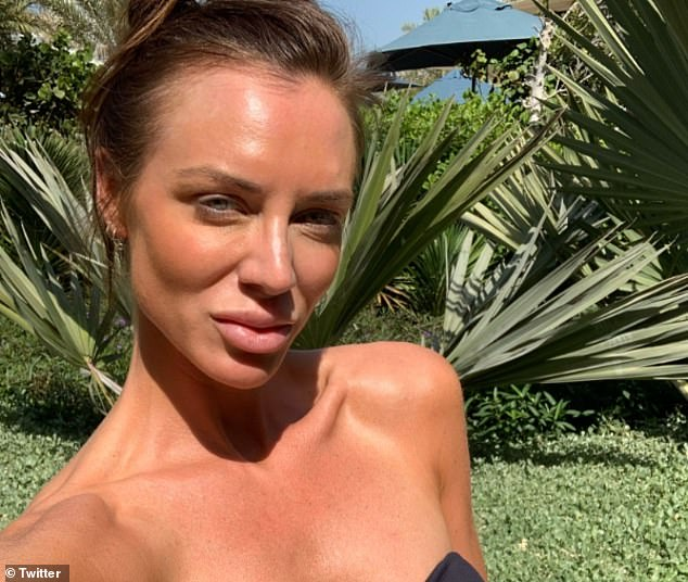 Katie Greville (pictured) allegedly confronted the former footballer Giggs over 'flirty' messages before the pair engaged in a blazing row