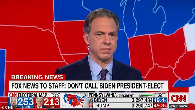 Kathryn Murdoch, 47, expressed the sentiment in a tweet on Friday, saying she agreed with CNN host Jake Tapper (above)