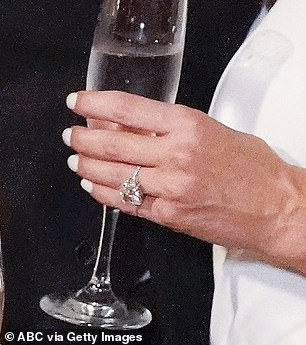 The ring is 4.5 carats says designer Neil Lane