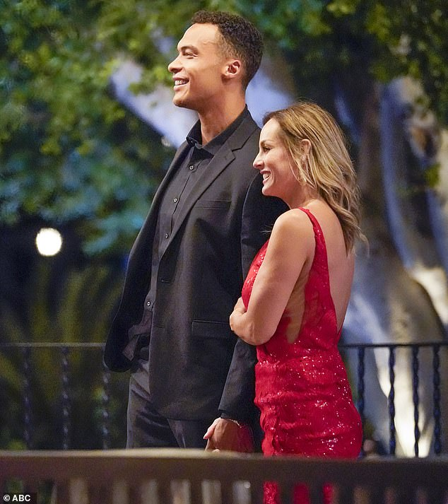 Instant connection: Clare was smitten with Dale since he stepped out of the limo on the season premiere of the ABC show