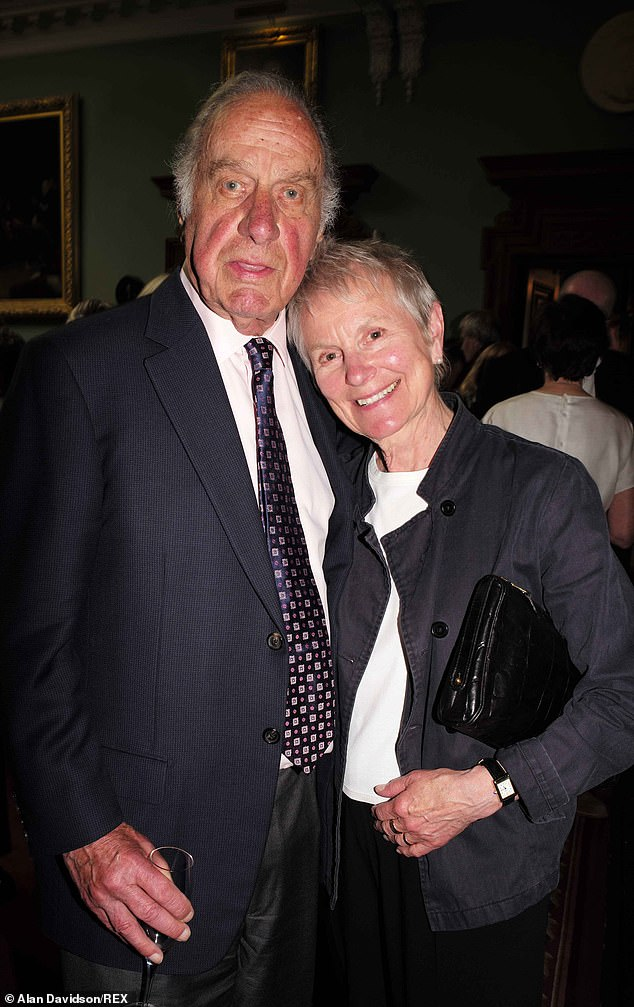 Geoffrey Palmer, pictured with his wife Sally Green at the celebration of his friend Donald Sinden in 2015