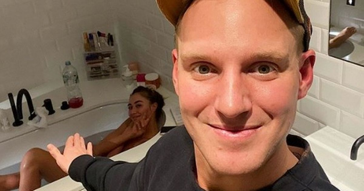 Stricty's Jamie Laing posts cheeky photo of naked lover Sophie Habbo in bath