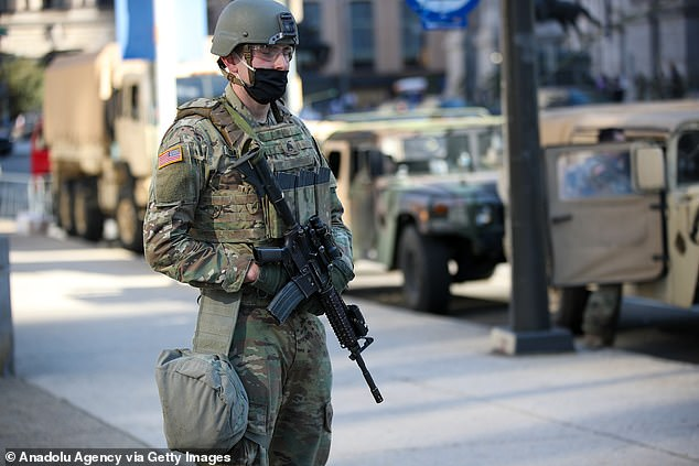 In Philadelphia, Pennsylvania's largest city, the National Guard patrolled the streets in anticipation of a result being declared.