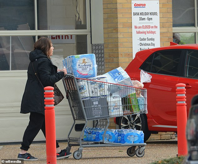 A number of shops are also open for click and collect customers, such as Pandora, Next, the Non Stop Party store in Kensington, west London and GAME. Pictured: Costco
