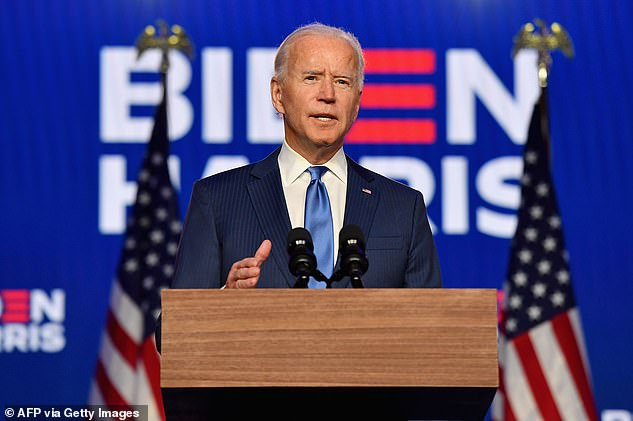 Joe Biden addressed the nation late Friday night as his leads expanded in Pennsylvania and Nevada putting him on the cusp of winning the presidency