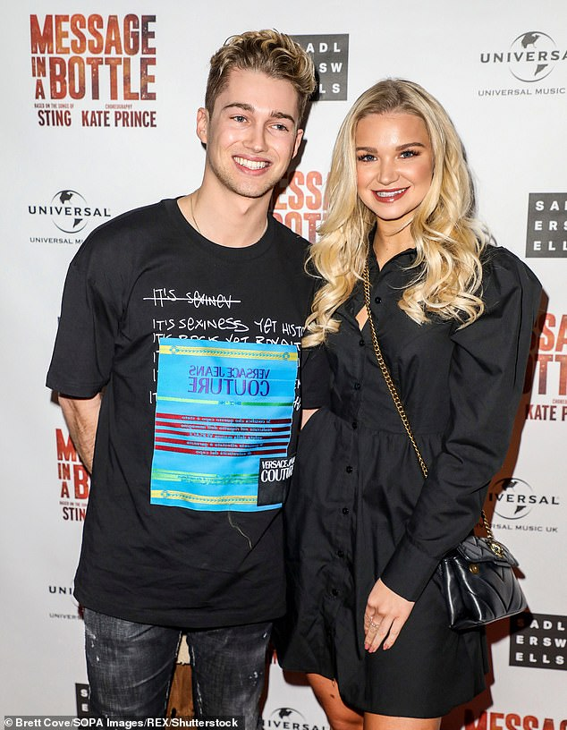 Preparations:The professional dancer is said to be isolating near Gwrych Castle in North Wales with girlfriend Abbie Quinnen (pictured in February)