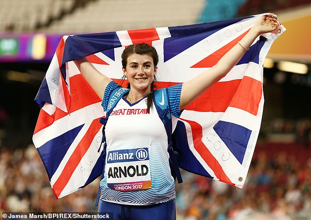 Sports star: Para-athlete Holly Arnold is believed to be bagging £50,000 for her appearance
