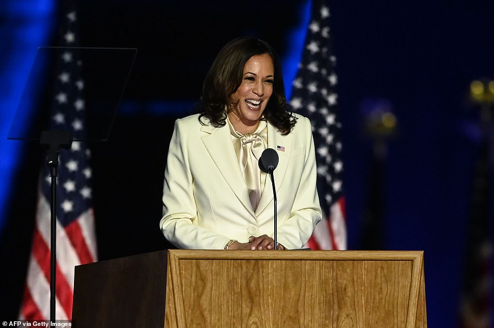Harris and Bidencelebrated their victory over President Donald Trump Saturday as the man they defeated refused to accept defeat
